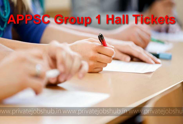 APPSC Group 1 Hall Tickets