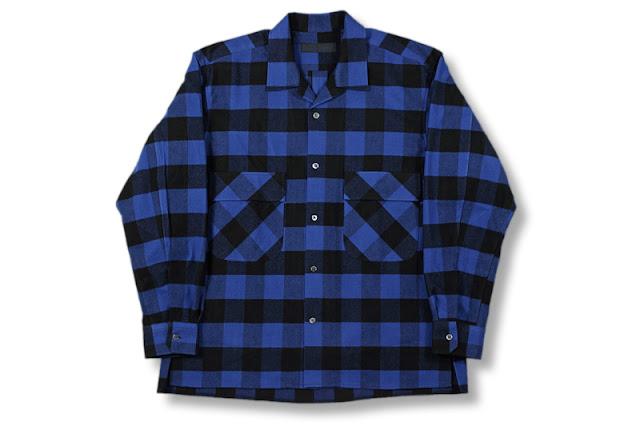 BLACK&BLUE [ ワーカースタイルシャツ ] ブルー/ブラックチェック