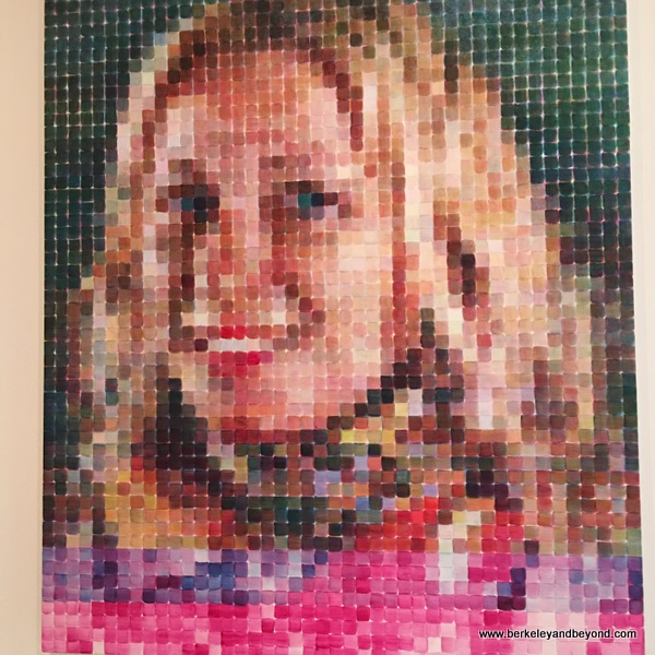"""Cindy,"" by Chuck Close, at the San Francisco Museum of Modern Art"