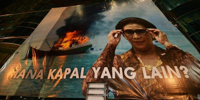 Menteri kelautan akan tenggelamkan kapal buruan interpol