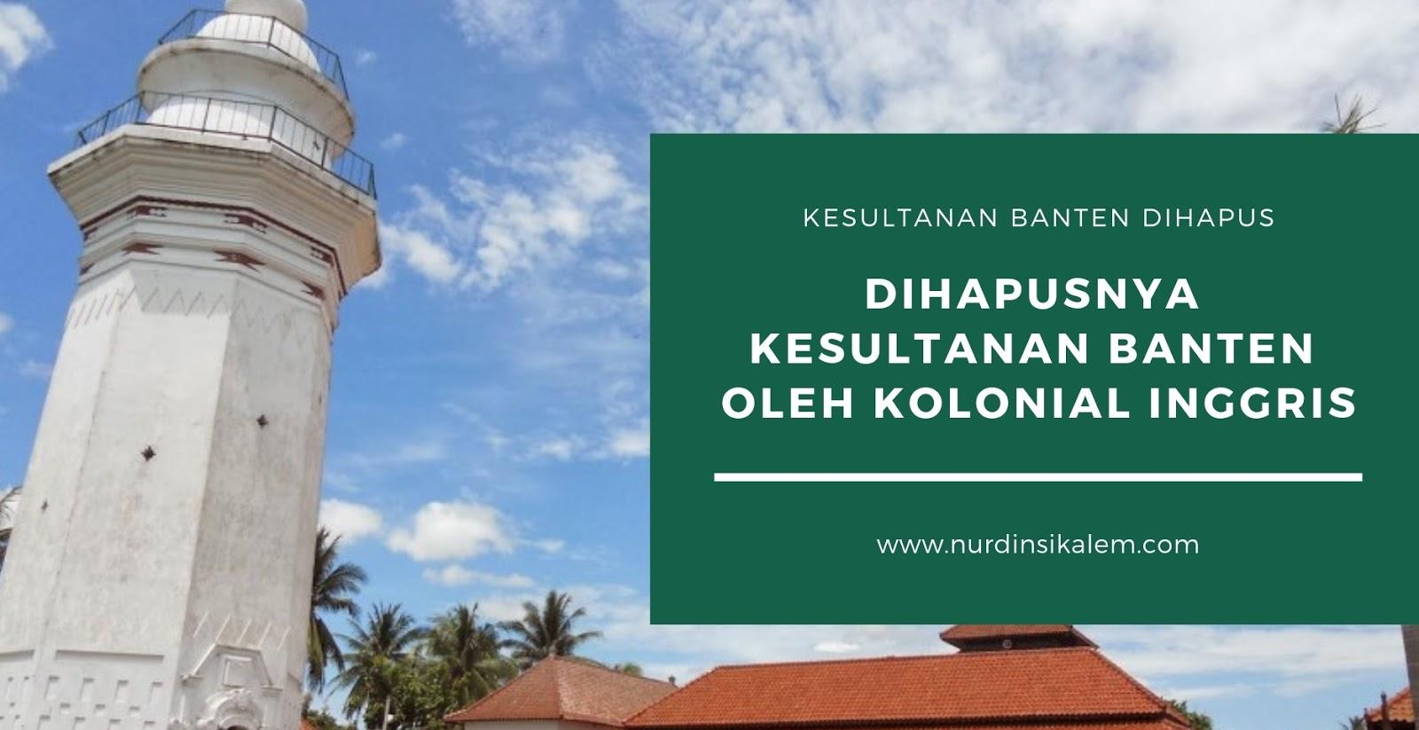 Penghapusan Kesultanan Banten