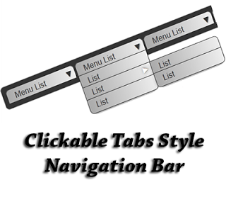 Add Click Style Tabs Navigation Menu Bar for blogger