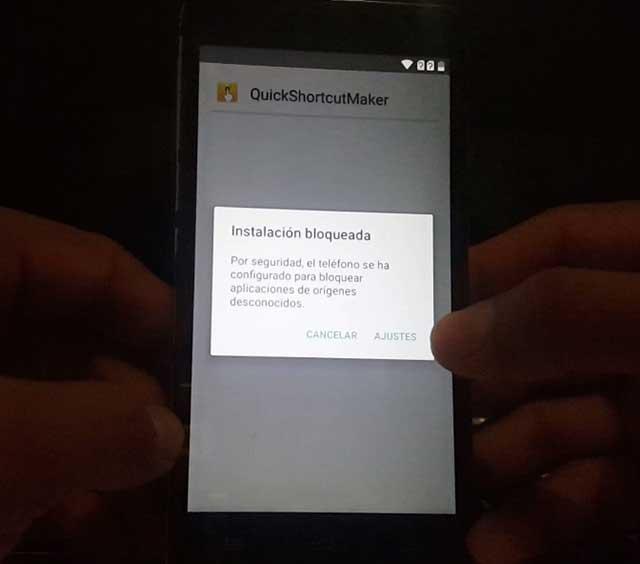 instalación bloqueado en android