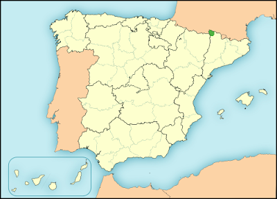 Aranese language in Spain map