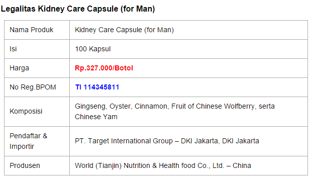 Kidney Care Capsule (for Man)