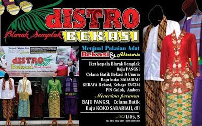 distro busana tradisional budaya betawi sunda pangsi Bekasi