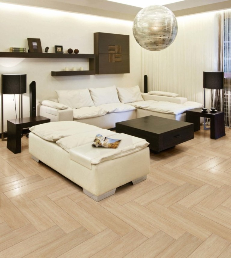New Por Design Living Room Tiled Floor In 2016 2017