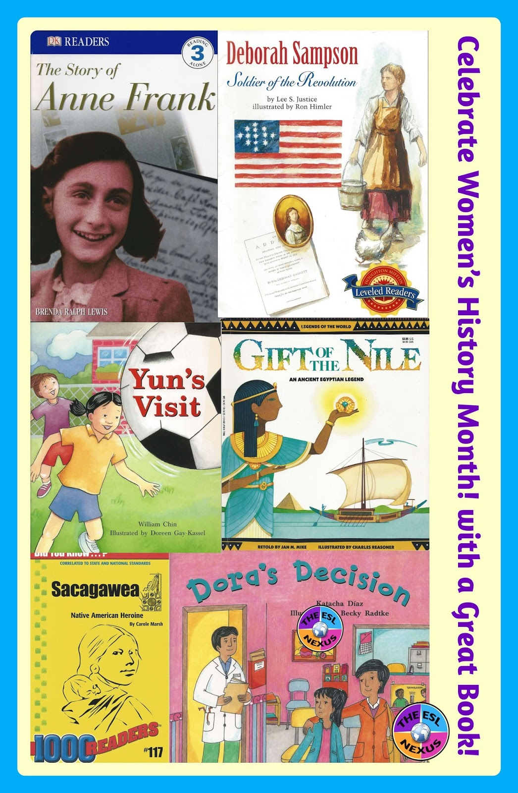 For Women's History Month (and any other time of year), here are 13 fiction & non-fiction books suitable for ELLs at low intermediate and higher language proficiency levels | The ESL Nexus