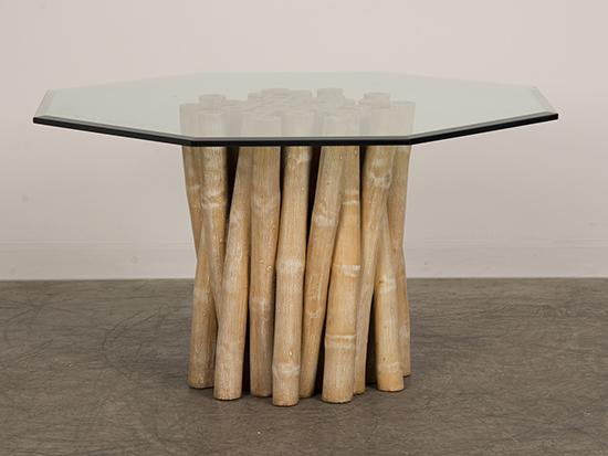 meja bambu modern