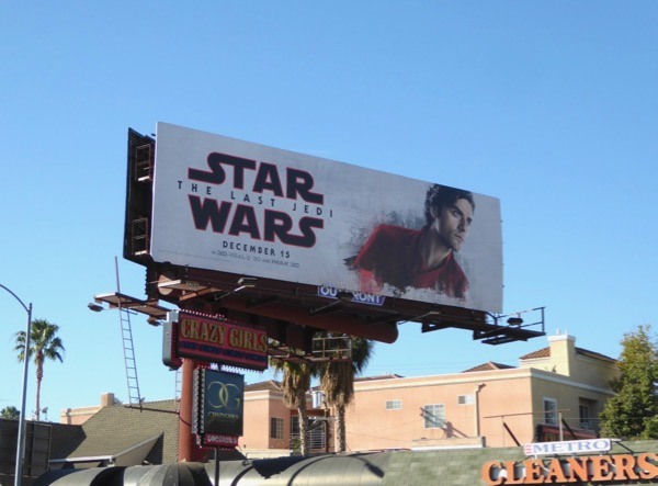 Star Wars Last Jedi Poe billboard