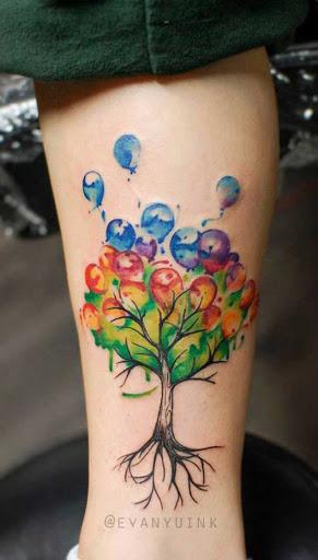 Este criativo balão árvore