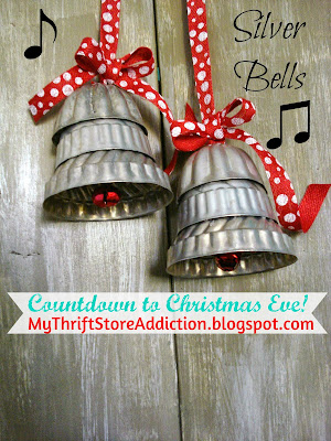 A Little Christmas Ladder and a Dear Gift mythriftstoreaddiction.blogspot.com Countdown to Christmas Eve: Silver Bells