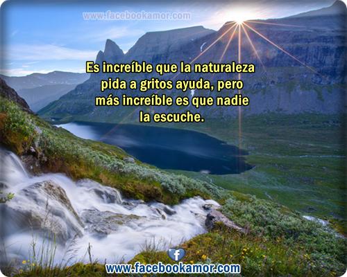 Frases De Amor Con Imagenes De Naturaleza: Postales De Naturaleza Para Facebook