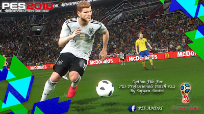 PES 2018 PES Professionals Patch 2018 Option File 18/06/2018 by Sofyan Andri