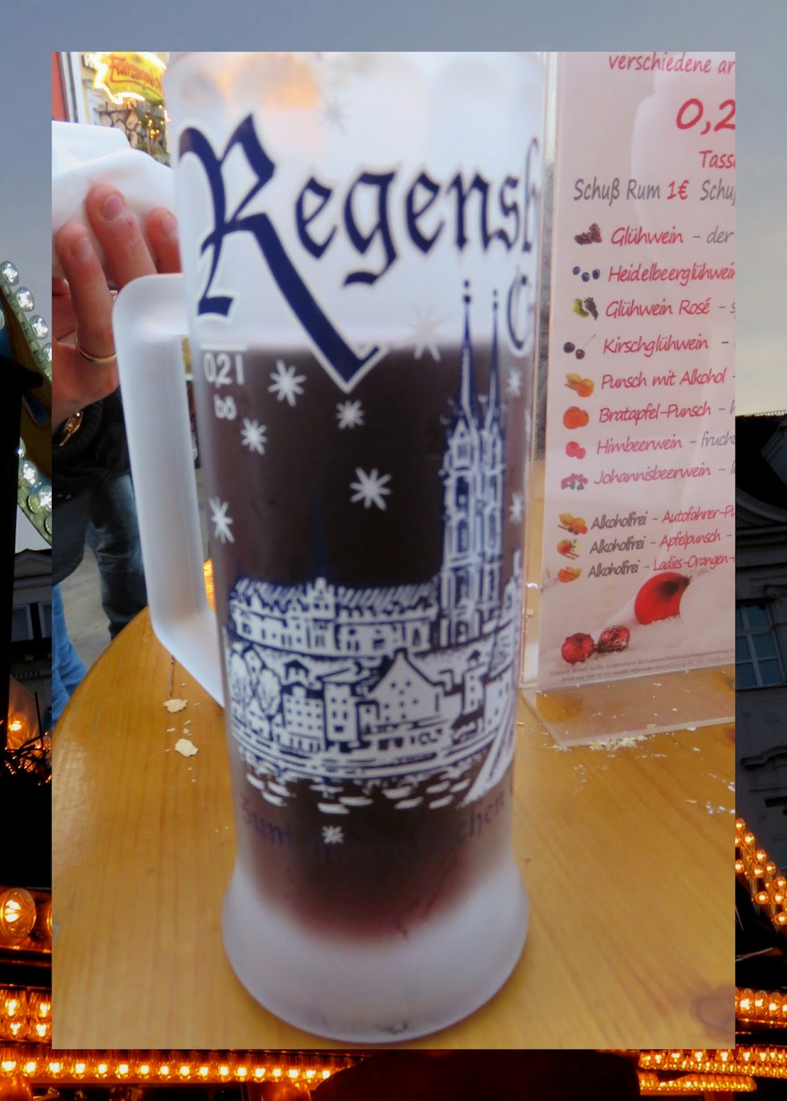 Regensburg - Christmas Market - Frosted Glass Mug