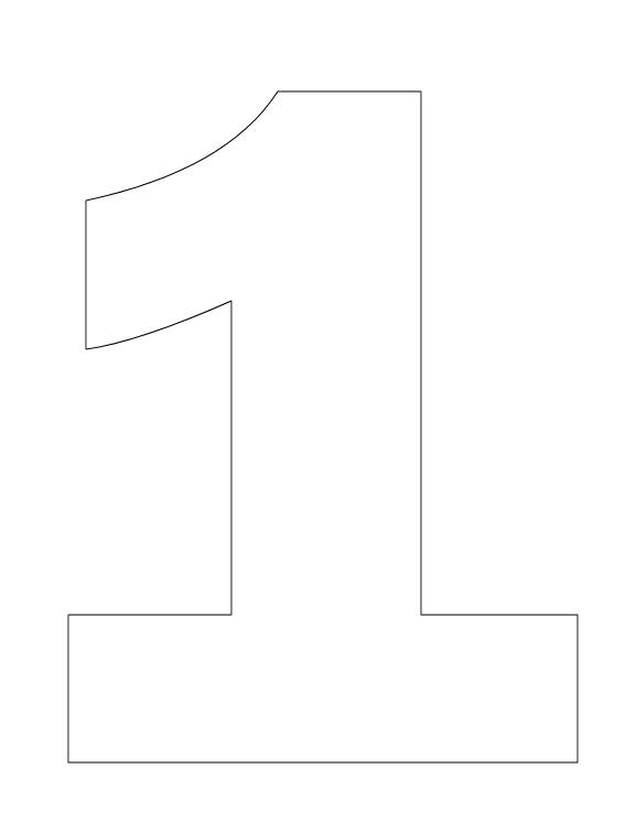 Coloring Pages Numbers 1 ONE