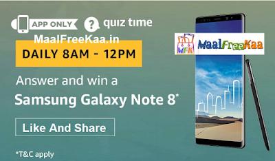 Free Samsung Galaxy Note 8 Smartphone