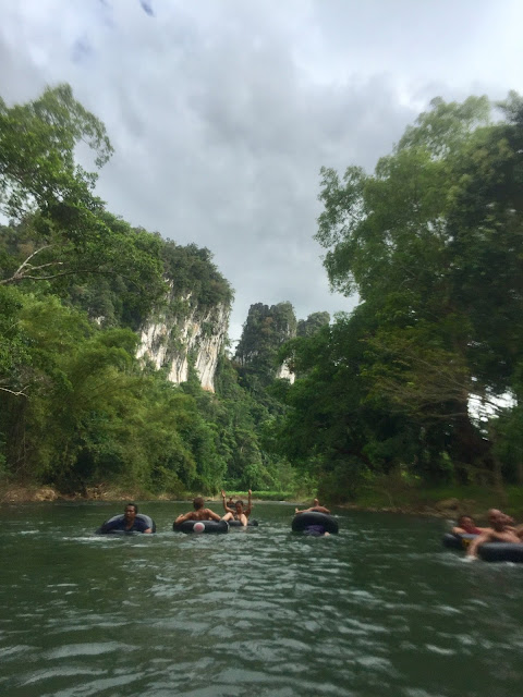 River tubing in Khao Sok National Park, Thailand