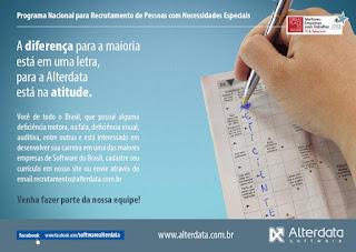 Oportunidade de trabalho na Alterdata Software Teresópolis RJ