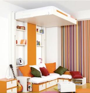 ideas para tener un cuarto más colorido, muchos colores en las paredes del cuarto