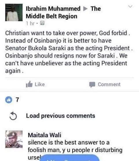Just negodu what someone wrote about president Buhari's illness