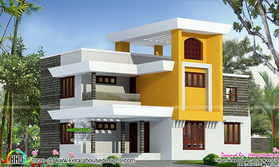 1930 sq-ft modern 4 bhk home