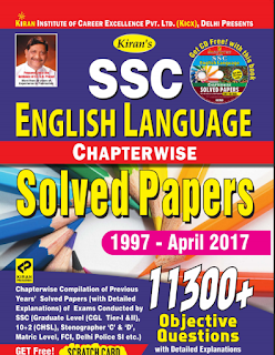 Kiran's SSC English Chapterwise 11300+(1997-April 2017)
