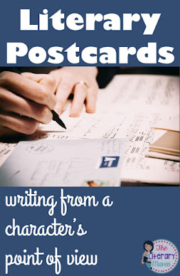 Literary postcards are a great activity to reinforce the ideas of character and point of view in any novel or short story and can be used with any grade level.