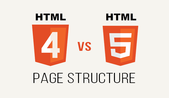 HTML4 vs HTML5 Page Structure