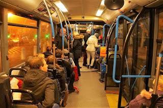 interior autobus budapest
