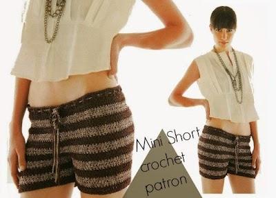 Mini Short de Crochet invierno patron