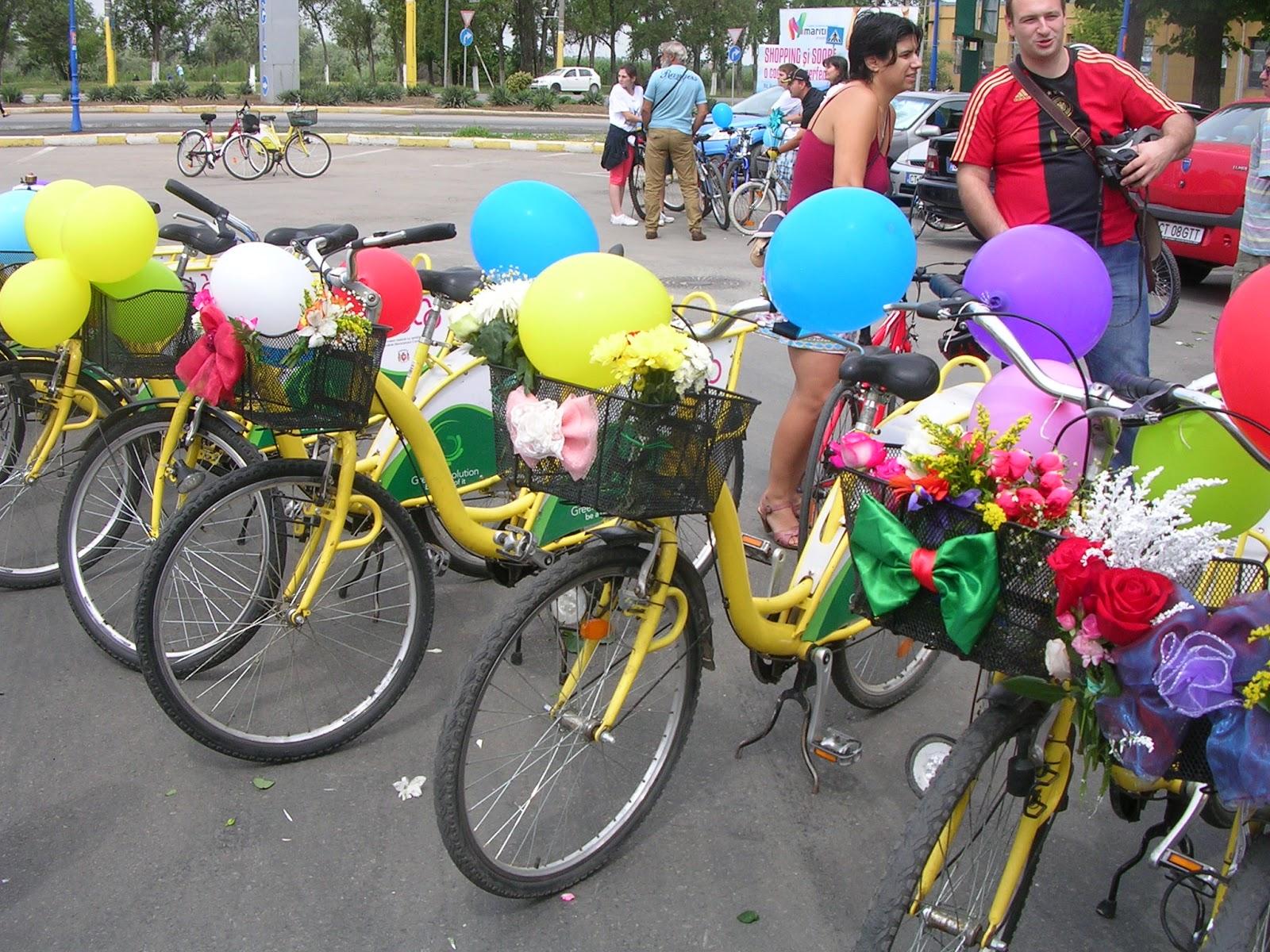 Biciclete cu flori