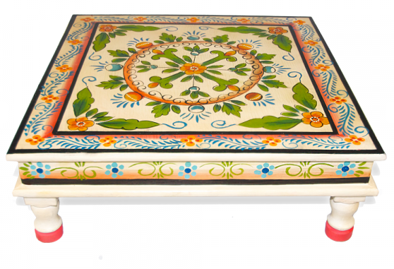 Christmas Gift Ideas for families who love Camping - hand painted Indian table