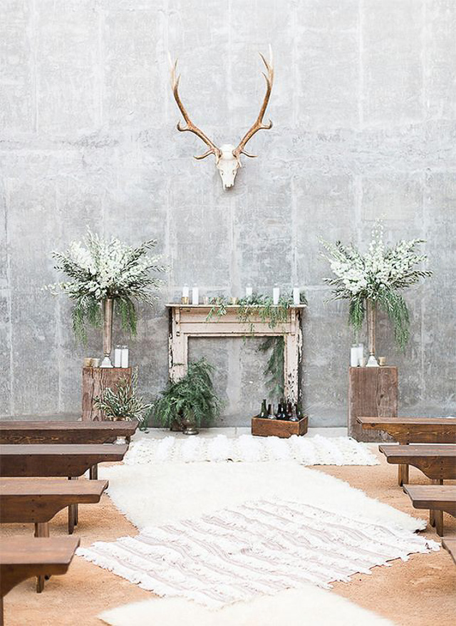 boda industrial idea decoración wedding decor cemento concret