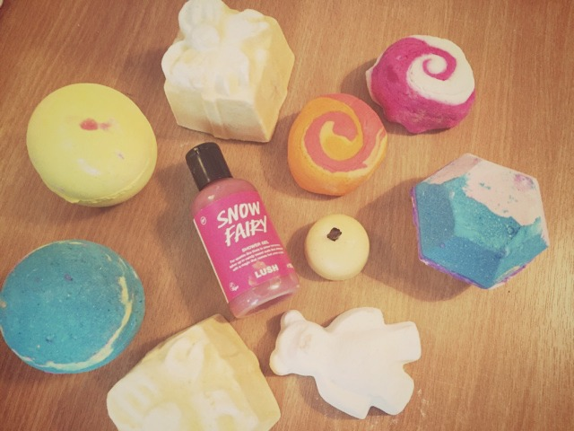 Lush Products I Got For Christmas