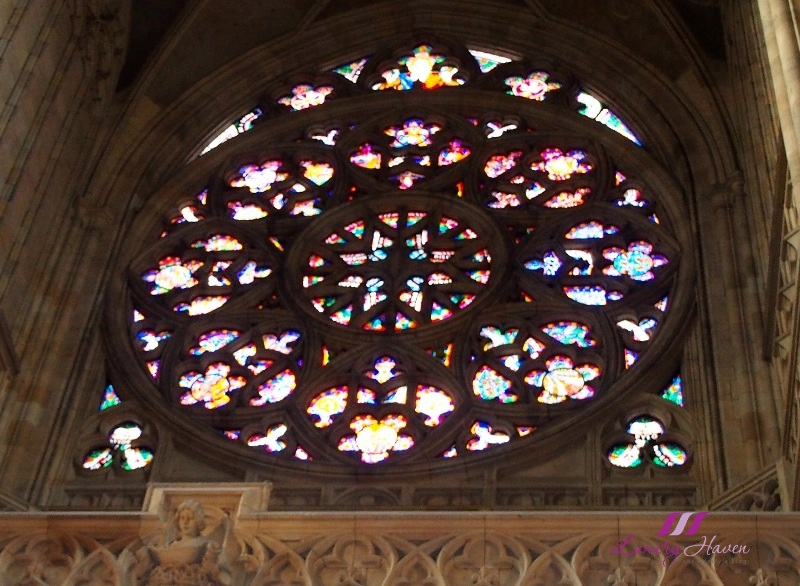 prague tourist attraction st vitus cathedral stained glass