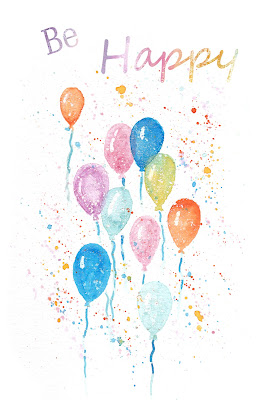 FREE Watercolor Balloons