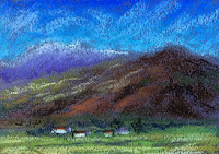 Thumbnail sketch in soft pastels