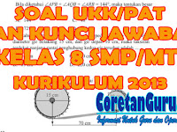 Soal UKK/PAT Matematika Kelas 8 SMP/MTs Kurikulum 2013 Dan Kunci Jawaban