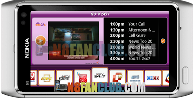 SPB nexGTv 2 2 1311 Live Indian Channels for Nokia N8 & other Belle