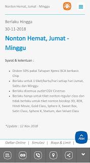 Promo Diskon Nonton Tahapan Xpresi BCA
