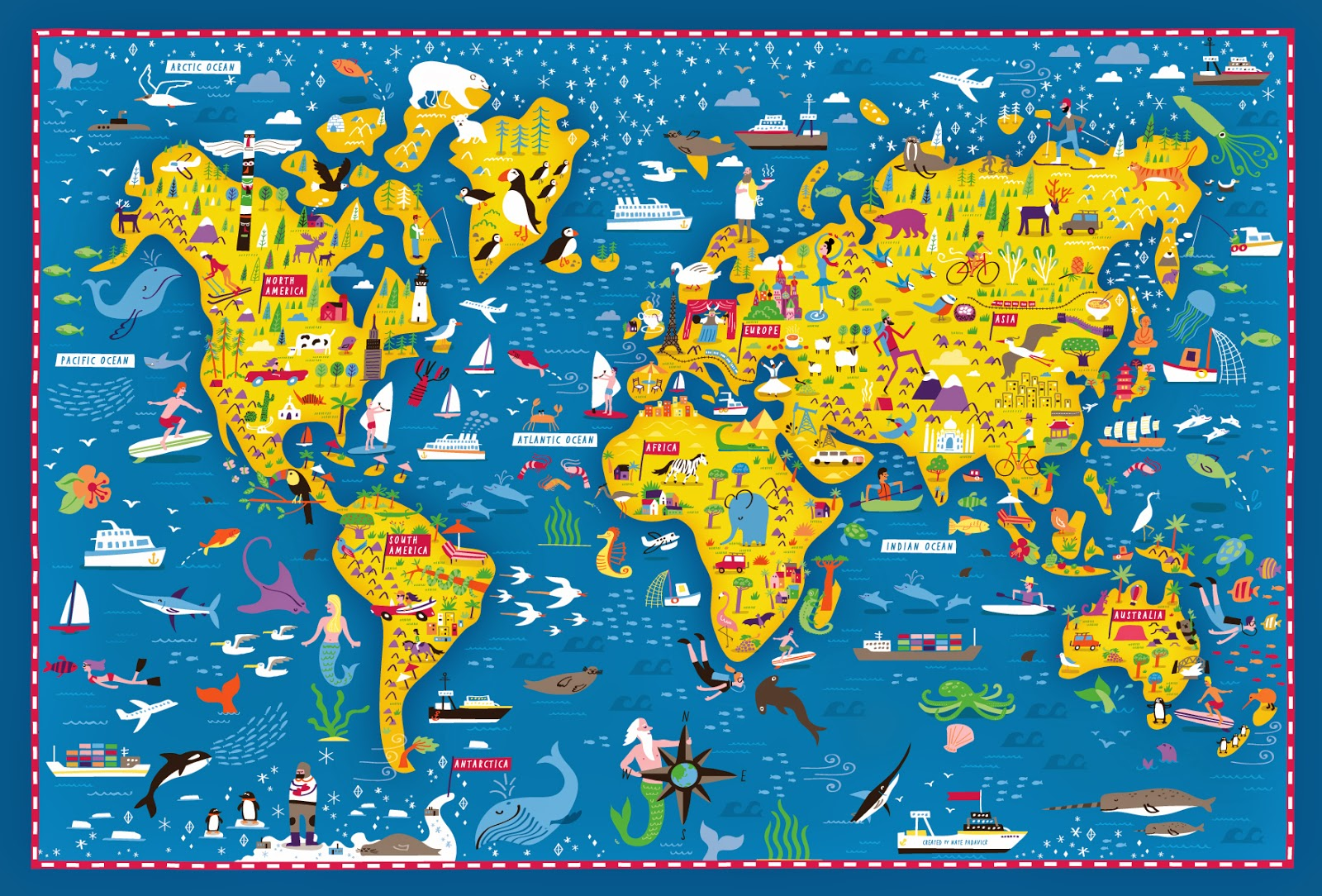 Childrens Rugs Australia I Draw Maps Big Fun World Map On Society6