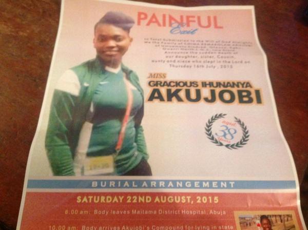 gracious akujobi burial