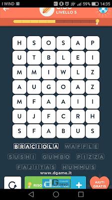 WordBrain 2 soluzioni: Categoria Cibo (6X7) Livello 5