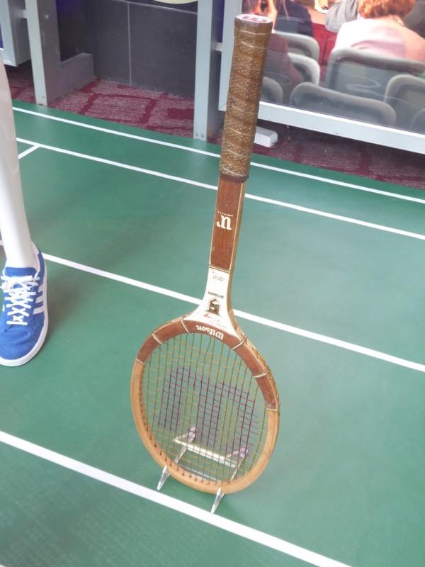 Billie Jean King Battle of the Sexes tennis racquet film prop