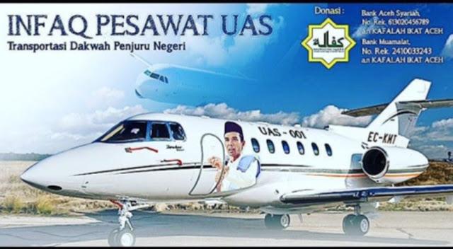 Masya Allah! Ulama, Bupati dan Warga Aceh Galang Dana Beli Pesawat untuk Dukung Dakwah UAS