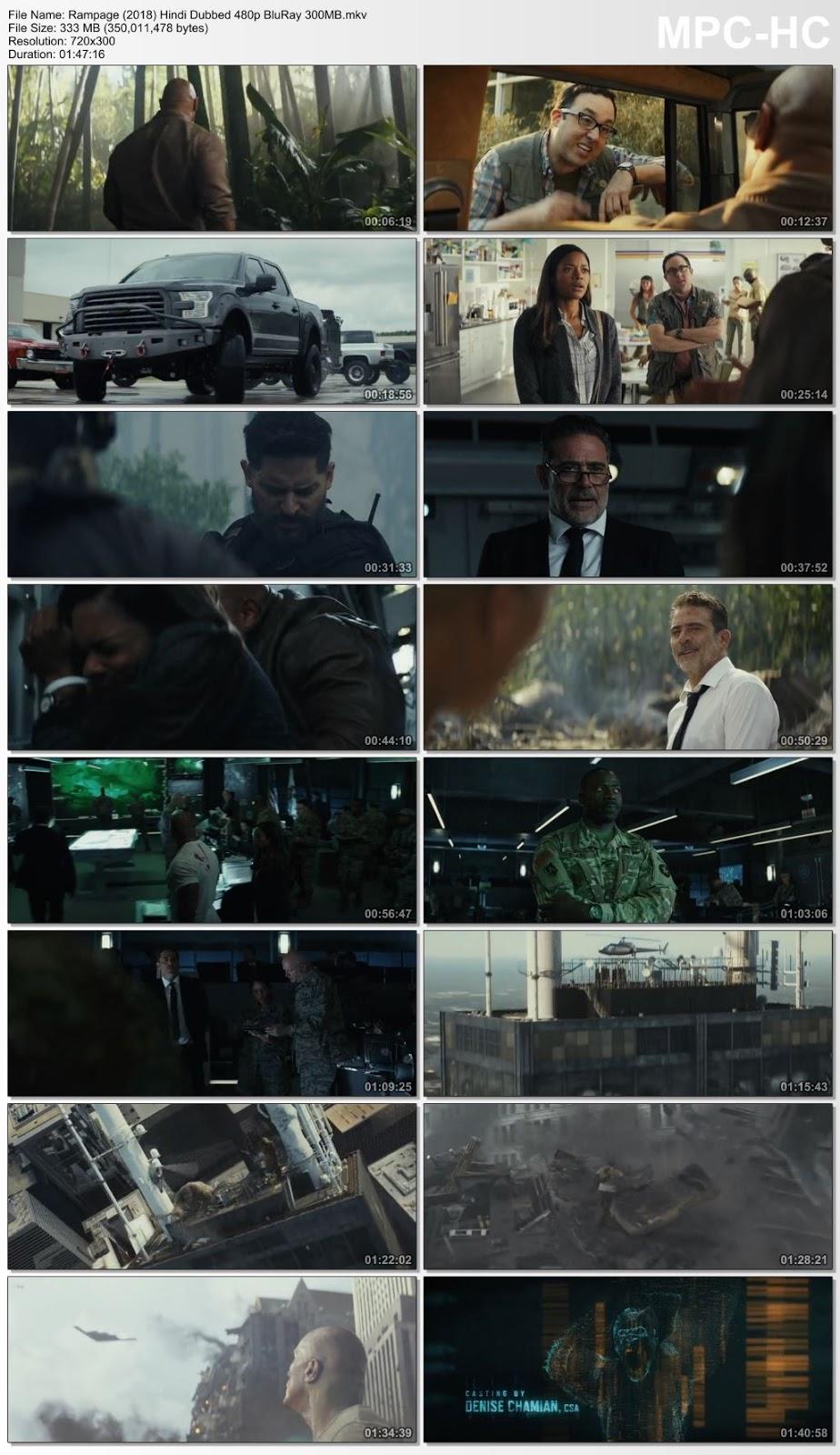 Rampage (2018) Hindi Dubbed 480p BluRay 300MB Desirehub