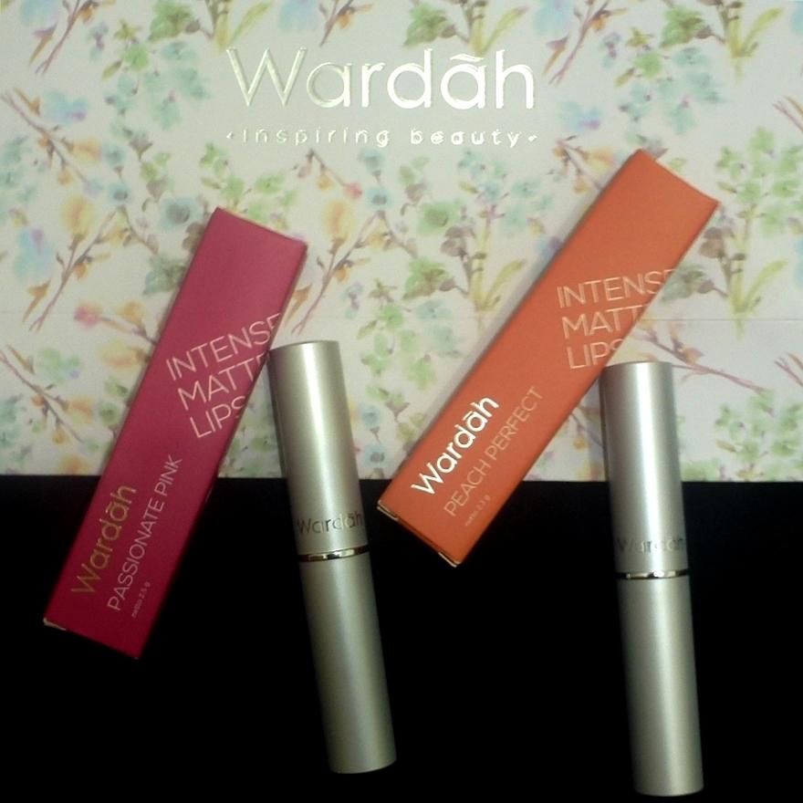 Review Wardah Intense Matte Lipstick 03 Peach Perfect 07