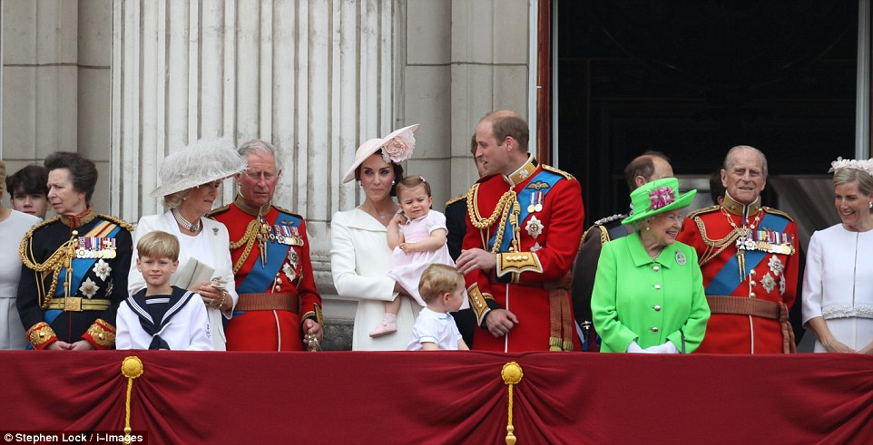 The Royal family takes part in the Queen's official 90th birthday celebrations