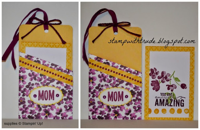 April Paper Pumpkin remake #5, Trude Thoman, stampwithtrude.blogspot.com, #paperpumpin #stampinup , Painted Petals, Mother's Day Thank you card